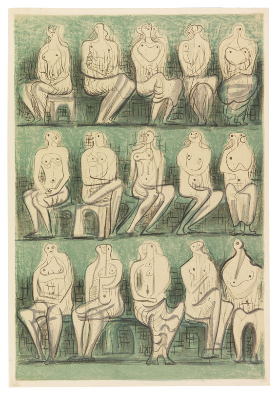 Henry Moore - Seated Figures